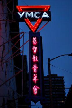 chinatown ymca sign